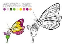 Fumetto della farfalla su bianco Fotografia Stock Libera da Diritti