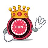 Fumetto della mascotte della moneta di re FunFair royalty illustrazione gratis
