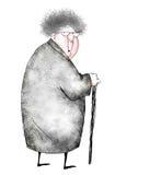 Fumetto della signora anziana sorpresa Fotografie Stock Libere da Diritti