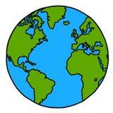 Fumetto della terra del pianeta. Fotografia Stock