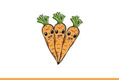 Fumetto delle carote su fondo bianco illustrazione vettoriale
