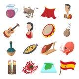 Fumetto delle icone della Spagna Immagini Stock Libere da Diritti
