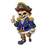 Fumetto dello scheletro del pirata illustrazione vettoriale