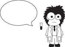 Fumetto dello scienziato illustrazione di stock