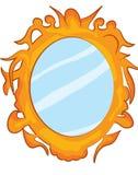 Fumetto dello specchio Fotografia Stock