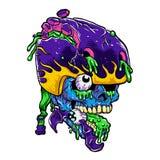 Fumetto dello zombie del pattinatore Immagine Stock