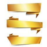 Fumetto di carta di origami dell'oro Immagini Stock Libere da Diritti
