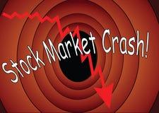 Fumetto di crollo del mercato azionario fotografia stock libera da diritti