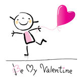 Fumetto di giorno del biglietto di S. Valentino Immagini Stock