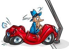 Fumetto di incidente stradale Fotografia Stock Libera da Diritti