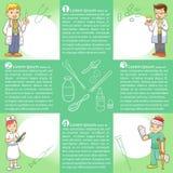 Fumetto di medica dei grafici di informazioni Fotografia Stock