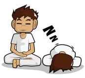 Fumetto di meditazione illustrazione di stock