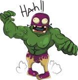 Fumetto di morto che cammina del lottatore della gente dello zombie divertente Immagini Stock Libere da Diritti