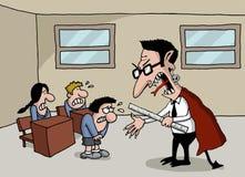 Fumetto di un insegnante del mostro a scuola Fotografie Stock Libere da Diritti