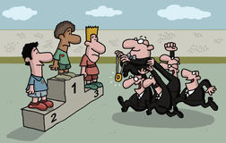 Fumetto di una cerimonia della medaglia Immagine Stock Libera da Diritti