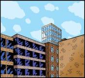 Fumetto di una città Fotografie Stock Libere da Diritti