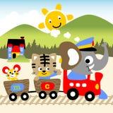 Fumetto di vacanza degli animali Fotografia Stock