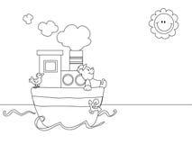 Fumetto di vista sul mare Immagine Stock