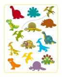 Fumetto Dino - gioco di corrispondenza Fotografia Stock