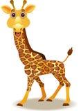 Fumetto divertente della giraffa Fotografia Stock Libera da Diritti