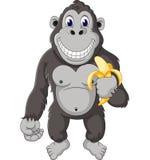 Fumetto divertente della gorilla illustrazione di stock