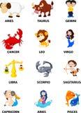 Fumetto divertente dello zodiaco Fotografia Stock Libera da Diritti