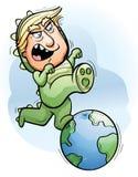 Fumetto Donald Trump Trampling Earth Immagini Stock