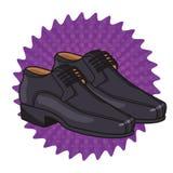 Fumetto elegante delle scarpe dell'uomo illustrazione vettoriale