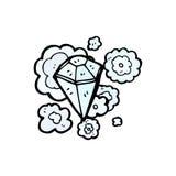 fumetto enorme del diamante illustrazione vettoriale