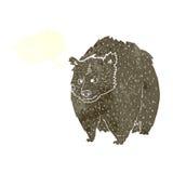 fumetto enorme dell'orso con il fumetto illustrazione vettoriale