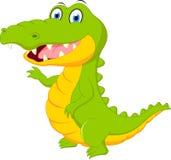 Fumetto felice del coccodrillo illustrazione di stock