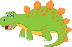 Fumetto felice del dinosauro illustrazione di stock