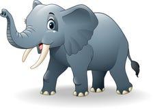 Fumetto felice dell'elefante royalty illustrazione gratis