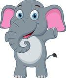 Fumetto felice dell'elefante del bambino illustrazione vettoriale