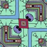 Fumetto - fondo felice di illusione dei fronti illustrazione vettoriale