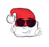 Fumetto fresco del cappello di Natale Fotografia Stock