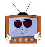 Fumetto fresco della TV Immagini Stock Libere da Diritti