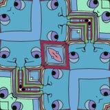 Fumetto - fronti felici che vi guardano - fondo di illusione royalty illustrazione gratis