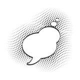 Fumetto, fumetti comici, nuvole vuote di dialogo con il semitono illustrazione vettoriale