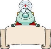 Fumetto Genie Banner illustrazione di stock