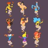 Fumetto Genie Set illustrazione di stock