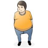 fumetto grasso del tirante Fotografie Stock Libere da Diritti