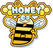 Fumetto Honey Bee Text Immagine Stock Libera da Diritti