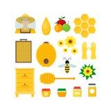 Fumetto Honey Color Set Vettore Fotografie Stock Libere da Diritti