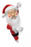 Fumetto il Babbo Natale al bordo della pagina Immagine Stock Libera da Diritti