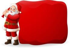 Fumetto il Babbo Natale che tira una borsa enorme illustrazione di stock