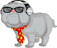 Fumetto inglese sveglio del bulldog Immagini Stock Libere da Diritti