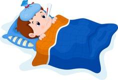 Fumetto malato del bambino royalty illustrazione gratis