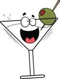Fumetto Martini felice Immagini Stock Libere da Diritti