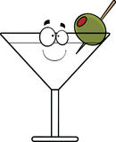Fumetto Martini sorridente Fotografia Stock Libera da Diritti